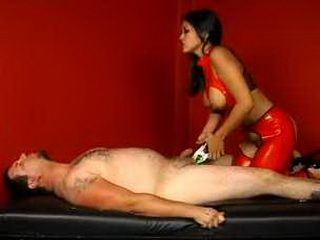 Mistress Molesting Slave