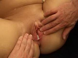 Fucking and cumming onto Sandie and her short plump friend