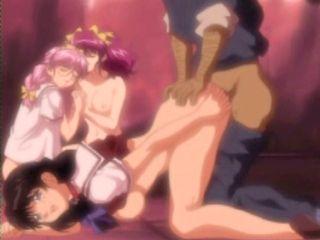 Bondage hentai coeds  assfucked by pervert guy