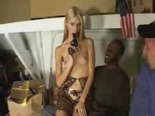 Sexy Blonde Cowgirl Fucked By Two Big Dicked Pistoleros