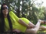 Zuzinka Yellow Dress Outdoor Rubbing & Peeing xLx