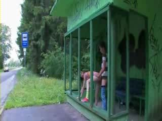 Teen Fucked at Bus Stop