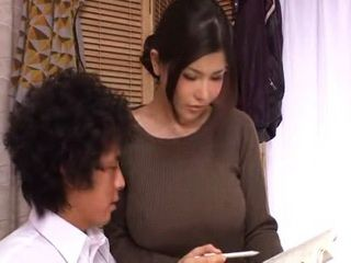 Hot Busty Milf Private Teacher Anri Okita Is Ruining Boy's Study Concentration