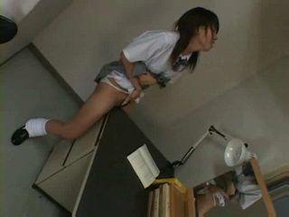 Horny Girl Humps Her Desk