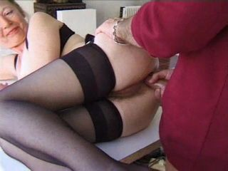 Hairy Mature Gets her Anus Tested with Long Dick