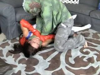 British Super Woman Gets Raped By Lizard Man Rape Fantasy