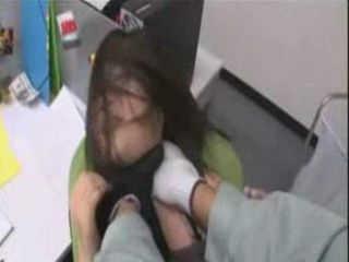 Burglar  Fucks Asian Girl In The Office After Hours
