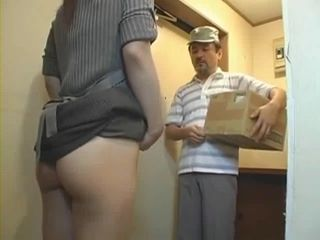 Desperate For Cock Housewife Nao Ayukawa Invites Delivery Guy In