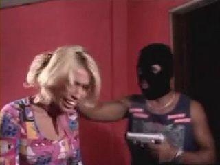 Terrified Brazilian Tranny Gets Fucked Under a Gun Treat
