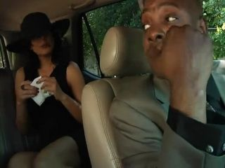 Rich Brunette Milf Gets Anal Fucked By her Black Limo Driver