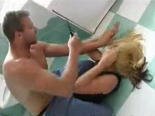 Terrified Blond Woman  Fucked Under Knife Threat