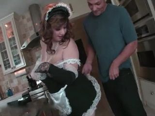 Mature BBW Maid Works Hard To Earn Her Salary