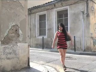 Chubby French Brunette Teen Makes Her First Porn Movie