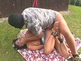 Bound Mature Housewife Gets Raped In Her Backyard By Masked Guy