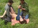 Screaming Teen Gets Brutally Raped On Picnic By Two Guys