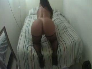 Amateur Big Ass Latina Milf In Net Stockings Fucks