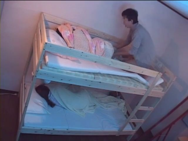 Little Sister Fucked While Elder One Sleeps In Bottom Floor Bed