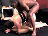 Painful Ass Fuck For White Masked Woman By Black Cock