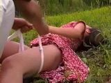 Screaming Woman Gets Brutally Raped In The Field Rape Fantasy