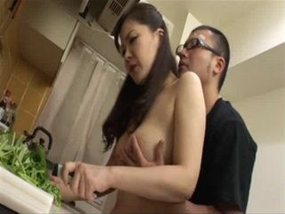 Japanese Mom Gets Fucked In The Kitchen