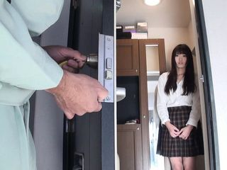 Repairman Repairs the Lock Then Locked the Door and Brutally Raped Home Alone Teen Japanese Uncensored Rape Fantasy
