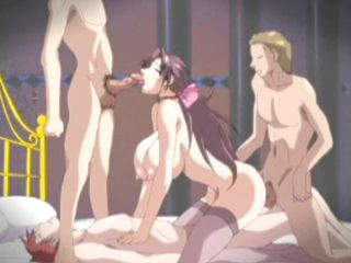 Bigboobs hentai hard foursome fucked and facial cumshot