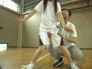 Naive Japanese Schoolgirl Abused By Her Trainer