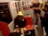 Teen Couple Having Sex in Subway Vienna, Austria