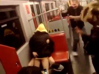 Teen Couple Having Sex in Subway Vienna, Austria