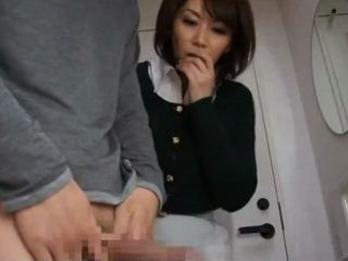 Step Mom Chisato Shoda Helps Her Step Son With His Boner