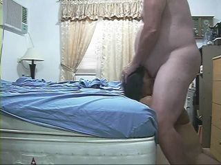 Amateur Asian Wife Fucks Her Big Fat White Husband and Gets Mouthful Cumshot