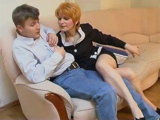 Aggressive Mature Milf Boss Lady Won Teen Cock After a Hard Struggle