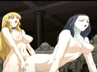 Nun hentai with bouncing tits hot doggystyle fucked
