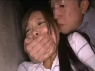 Shocked Teen Girl Grabbed in a Backyard