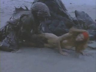 Terrified Girl Attacked By Monster On The Beach - Mainstream Movie Scene