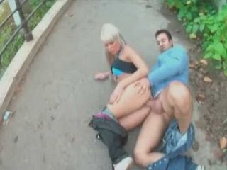 Blonde Hungarian Babe Fucked In Public Park