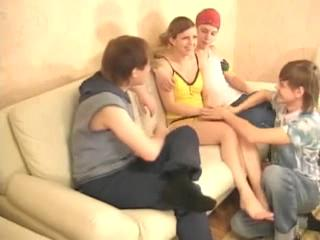 Amateur Teen Group Fucked By Three Of Her Friends
