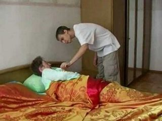 Old Granny gets A Very Rude Awakening From Grandsons Friend That Morning