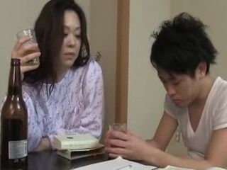 Japanese Mother Fucks Her Teenager Son Uncensored