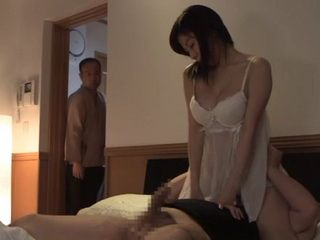 Perverted Father In Law of Chihiro Akino Joins the Fun Without Knowledge Of His Son