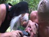Two Punks Brutally Raped Poor Granny In The Forest - Rape Fantasy