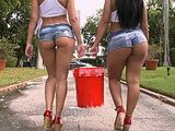 Car Wash Girls With Big Ass Teasing Part 1