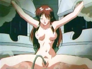 Chained hentai gets tentacle drilled pussy