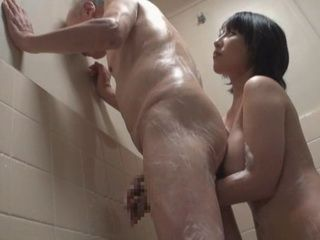 Daughter In Law Yuuki Maeda Bathing Her Old Father In Law