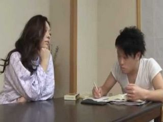 Japanese Step Mother Knows How to Reward Boy For Hours Of Hard Study