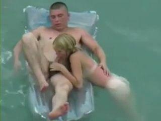 Voyeur Tapes Horny Couple Having Hot Sex on Nudist Beach