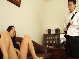 Slutty Stepmom Yuri Honma Gets Busted Masturbating By Her Stepson