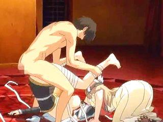 Roped hentai Princess hot threesome wetpussy fucking