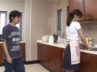 Mother Miku Aoki Allows Her Teenager Son A Lot