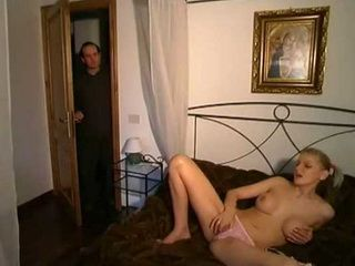 Daddy Enter Daughters Bedroom To Wish Her Good Night And Catches Her Masturbating